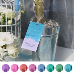 ZAWIESZKI na wódkę personalizowane Pastelowa Akwarela 10szt