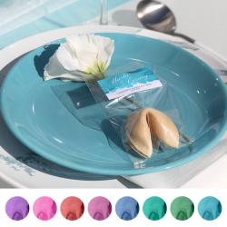 CIASTECZKO dla gości z wróżbą Pastelowa Akwarela (+etykieta)