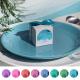 PUDEŁECZKA kwadrat z IMIONAMI Pastelowa Akwarela 10szt (+ etykiety) (+kokardki kolor)