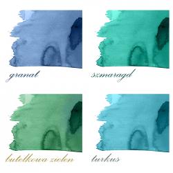 PUDEŁECZKA SERCA personalizowane 10szt Pastelowa Akwarela (+kokardki)