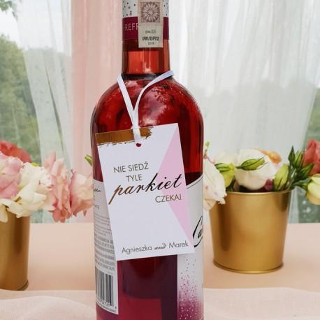 ZAWIESZKI na wódkę Kolekcja Różowe Złoto 10szt.