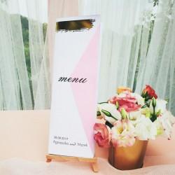 MENU weselne Różowe Złoto