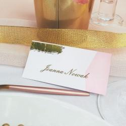 WIZYTÓWKA personalizowana Różowe Złoto