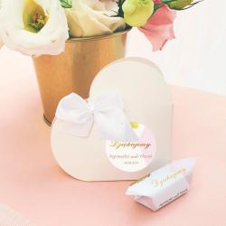 PUDEŁECZKA SERCA personalizowane 10szt Różowe Złoto (+białe kokardki)