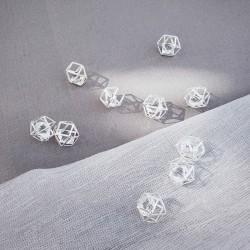 DIAMENCIKI dekoracyjne z kryształkami SREBRNE 24szt