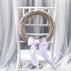 WIANEK wiklinowy dekoracyjny Biały 31cm