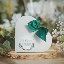PUDEŁECZKA SERCA personalizowane Boho Wedding 10szt (+etykiety+kokardki)