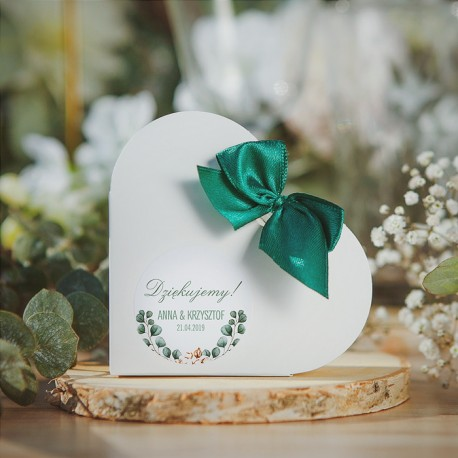 PUDEŁECZKA SERCA personalizowane Boho Wedding 10szt. (+kokardki)