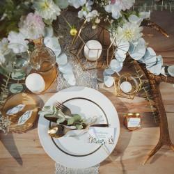 PUDEŁECZKA kwadrat Boho Wedding 10szt (+etykiety)