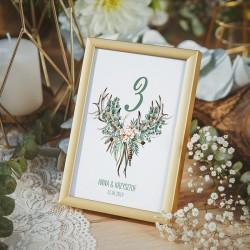 TABLICZKA na stolik z personalizacją Boho Wedding (+ramka)
