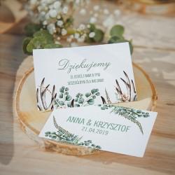 BILECIKI podziękowanie personalizowane Boho Wedding