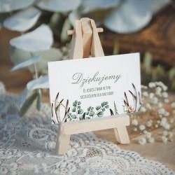 BILECIK podziękowanie personalizowany Boho Wedding