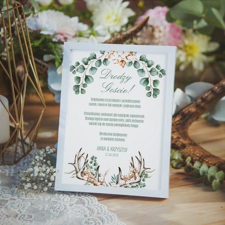 INSTRUKCJA do księgi gości w ramce Boho Wedding