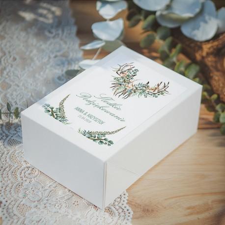 PUDEŁKO na ciasto personalizowane Boho Wedding 10szt