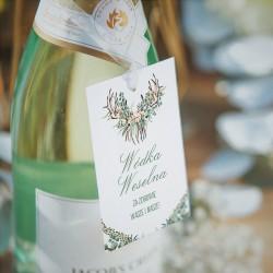 ZAWIESZKI na wódkę Boho Wedding 20szt