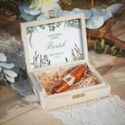 PREZENT dla świadka w drewnianym pudełku CZEKOLADOWE CYGARO Boho Wedding