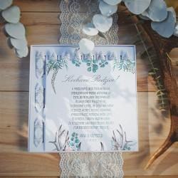 BOMBONIERKA z krówkami Boho Wedding PODZIĘKOWANIE dla Rodziców