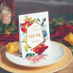 MENU weselne Kolekcja Flora