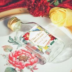BUTELECZKA na alkohol dla gości Kolekcja Flora (+ etykieta)