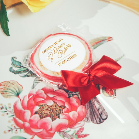 LIZAKI podziękowanie Kolekcja Flora 10szt (+etykiety+kokardki)
