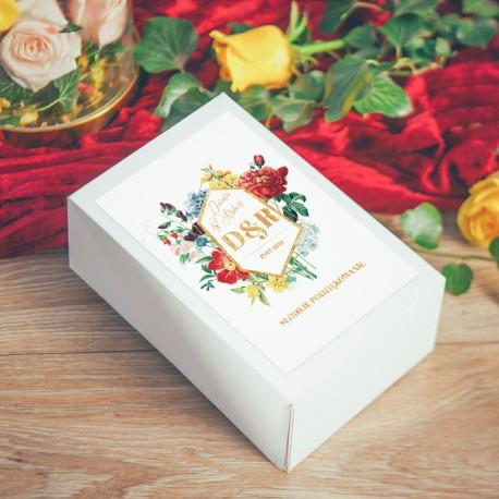 PUDEŁKO na ciasto personalizowane Kolekcja Flora 10szt