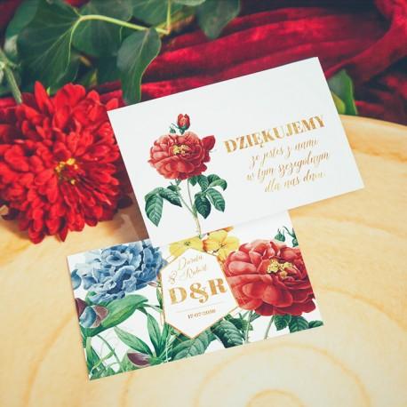 BILECIKI podziękowanie personalizowane Kolekcja Flora 20szt