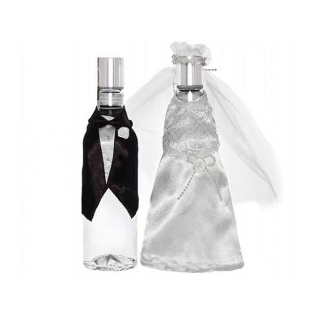 UBRANKA NA BUTELKĘ wódki lub szampana Młoda Para