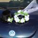 WIANEK I CYLINDER dekoracja auta ślubnego