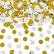 KONFETTI wystrzałowe srebrno-złote KÓŁKA