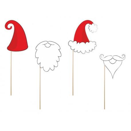 ZESTAW świątecznych rekwizytów Św. Mikołaj