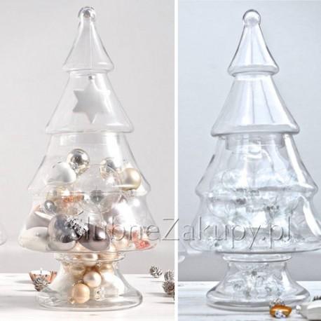 CHOINKA świąteczna szklana duża 43cm