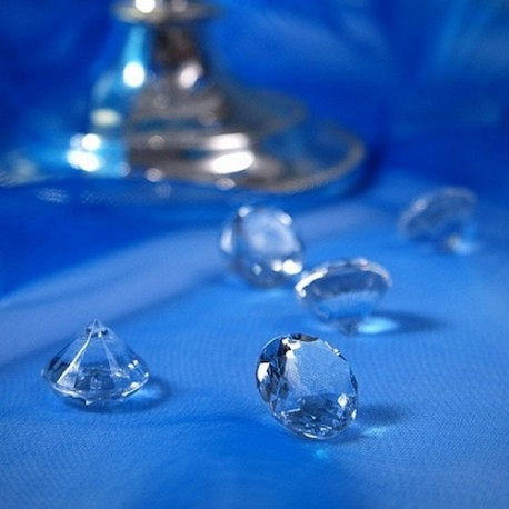 DIAMENCIKI ozdobne na stoły 2cm 10szt BEZBARWNE
