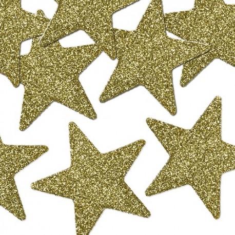 GWIAZDKI dekoracyjne świąteczne złote/srebrne