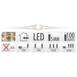 DRUCIK świetlny microLED na baterie 5m 50ledów