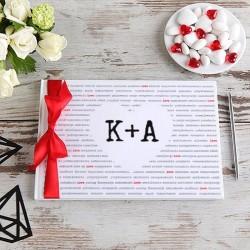 KSIĘGA GOŚCI weselnych Miłość w słowach BIAŁE/CZARNE KARTKI