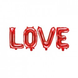 BALONY foliowe czerwone LOVE 40cm