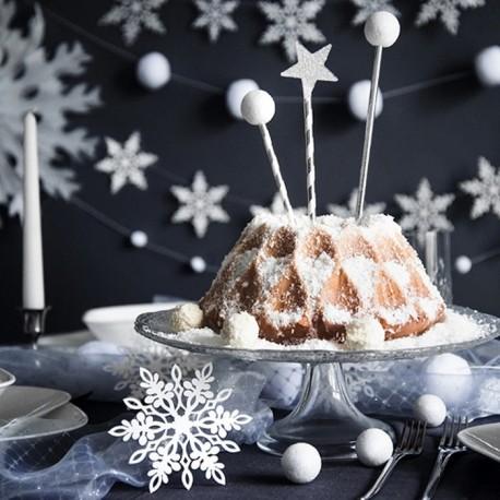 ZAWIESZKA świąteczna Śnieżynka 13cm 10szt