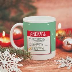 KUBEK prezent świąteczny Mikołaju Wszystko Wytłumaczę personalizowany