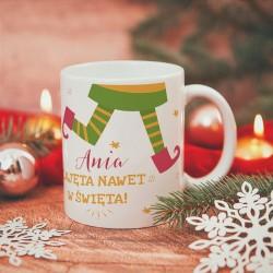 KUBEK prezent świąteczny Dla Zabieganej Osoby personalizowany