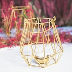 LAMPION do zawieszenia geometryczny złoty 15cm