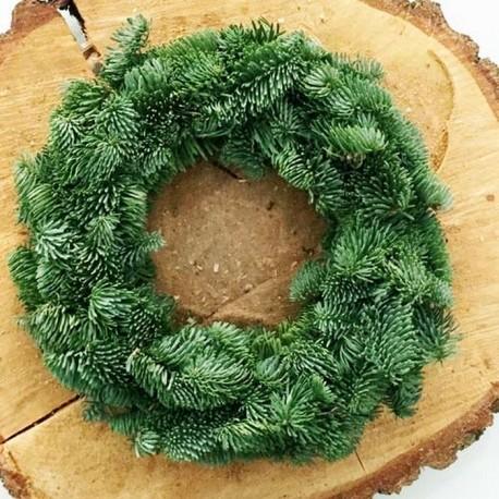 WIANEK świąteczny jodłowy Ø 30cm Naturalny DUŻY!