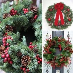 WIANEK świąteczny jodłowy Ø 26cm Naturalny DUŻY!
