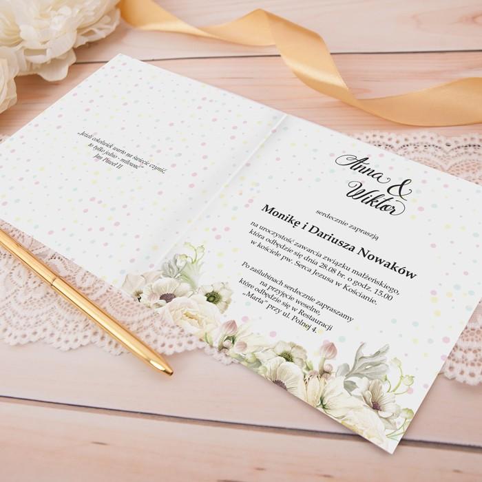 Zaproszenie ślubne Personalizowane Sakramento Slubnezakupypl
