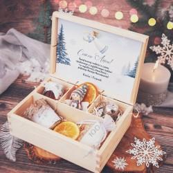 SKRZYNKA prezent świąteczny Srebrna Zima