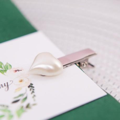 KLAMERKI dekoracyjne perłowe serduszka 10szt