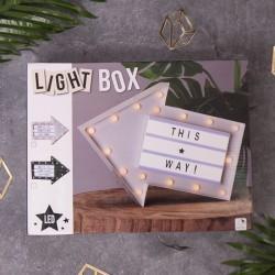 LIGHTBOX podświetlane pudełko LED Strzałka 30cm