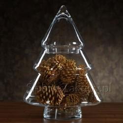 CHOINKA świąteczna szklana pękata 35cm