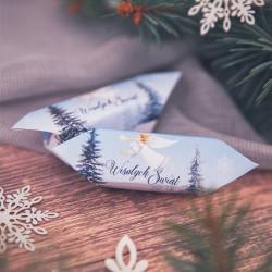 KRÓWKA uniwersalna świąteczna Srebrna Zima