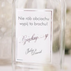 BUTELECZKA na alkohol dla gości Kolekcja Klasyczne Srebro