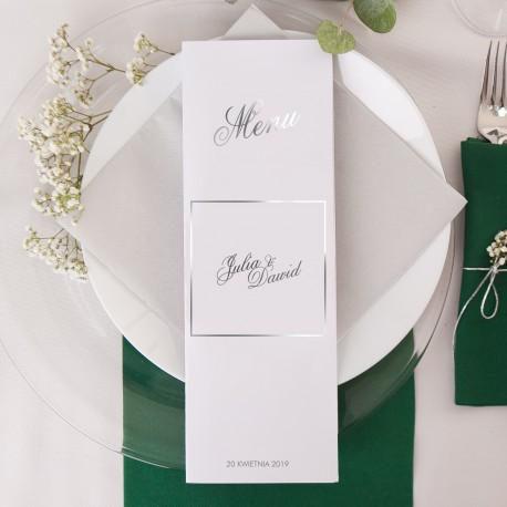 MENU weselne Kolekcja Klasyczne Srebro